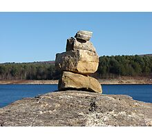 Resevoir Cairn Photographic Print