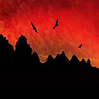 Vultures Circling the Pinnacles by Corri Gryting Gutzman