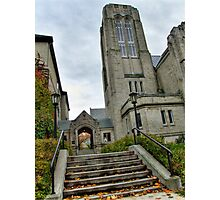 Autumn in the City, No. 5 (Local church) Photographic Print