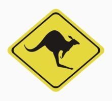 Kangaroo Crossing Sign by surreal77