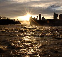 December Evening-Niagara Falls by BigD