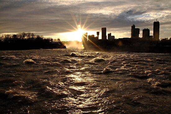 December Evening-Niagara Falls by BigD