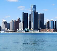 Detroit Skyline by David Lester