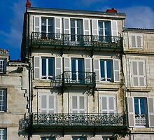 Houses on the Port of La Rochelle by Pamela Jayne Smith