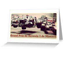 Grand Prix de Formule 1 de Monaco Greeting Card