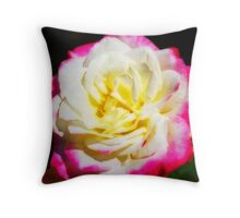 Multi-Coloured Rose Throw Pillow