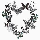 Black Butterflies Tee by Mariska
