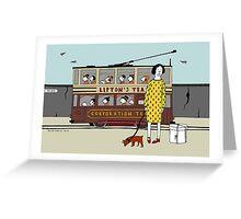 Old Tram Greeting Card