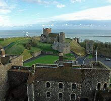 Aerial view of Dover Castle - extremely well planned by ashishagarwal74