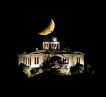 Moonset over the Observatory: Athens by toby snelgrove  IPA