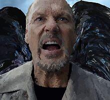 Birdman - Michael Keaton Digital Portrait  by Katie  McNeice