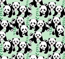 Panda Bears Graphic Pattern by ironydesigns