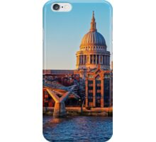 The Millennium Bridge and St Paul's Cathedral, London, England iPhone Case/Skin