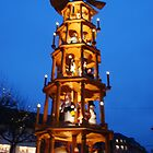 Pyramid at Mainz Christmas market by Nancy Huenergardt