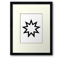 Nine-pointed star Framed Print