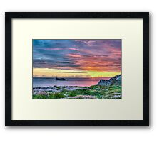 Sunset in France Framed Print