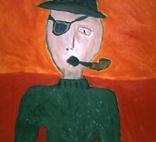 I'm A Pirate: Self Portrait With Eyepatch and Pipe by Jesse Richards