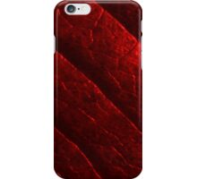 Red Metal Leaf iPhone Case/Skin