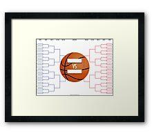 March Madness Basketball Bracket Chart Framed Print