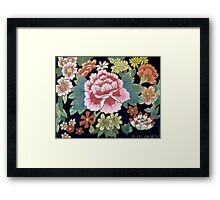 Kimono Flowers Framed Print