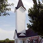 White Clapboard Church by RollemFloyd