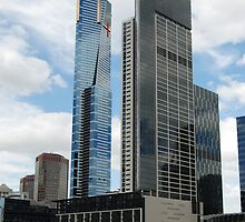Eureka Tower and Southgate buildings , Melbourne by peter riley