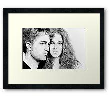 Twilght - Edward and Bella Framed Print