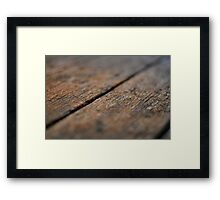 Wooden Boards Framed Print