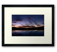Tharwa Sunset Framed Print