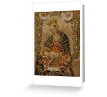 Unknown - The Virgin Adoring the Christ Child with Two Saints (La Virgin adorando al Nino Jesus con dos santos) Greeting Card