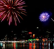 Fire works in Brissy by Gill Duncan