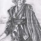 Pencil Sketch Of Darth Vader by Andrew Pearce