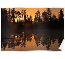 Morning on Tanker Lake  Poster