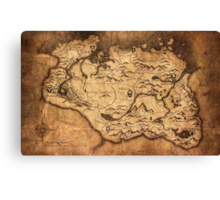 Distressed Maps: Elder Scrolls Skyrim Canvas Print