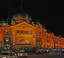 "Flinders Street Station the ""Clocks"" by Hicksy"