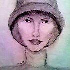 Woman in hat by Manana11