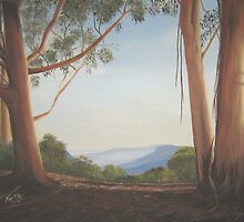 Jamison Valley, Blue Mountains, Australia by Kaye McRae