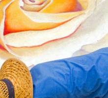 Imadonnari Italian street painting festival.  Santa Barbara, California Sticker