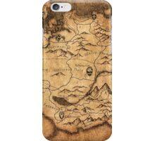 Distressed Maps: Elder Scrolls Skyrim iPhone Case/Skin