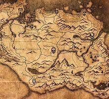 Distressed Maps: Elder Scrolls Skyrim by Alice Edwards
