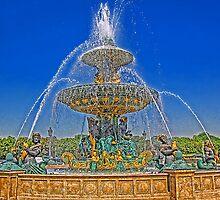 Fountain on the Place de la Concorde, Paris, France by vadim19