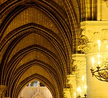 Notre Dame Cathedral Interior by Jeff Barnard