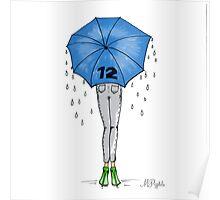 12th Man Umbrella  Poster