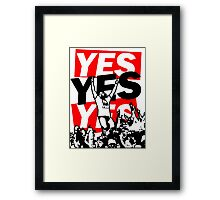 The Yes Movement [White] Framed Print