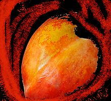 Peach Heart by Virginia Maguire