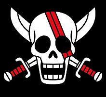 One Piece Red Hair Pirates Shanks Logo Anime Cosplay T Shirt by ryoka