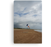 Flags and a surfboard Canvas Print