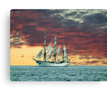 Quiet Evening at Sea Canvas Print