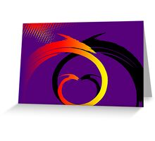 Swirls Faceoff v1 Greeting Card