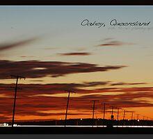 Oakey Traffic Dusk © Vicki Ferrari by Vicki Ferrari